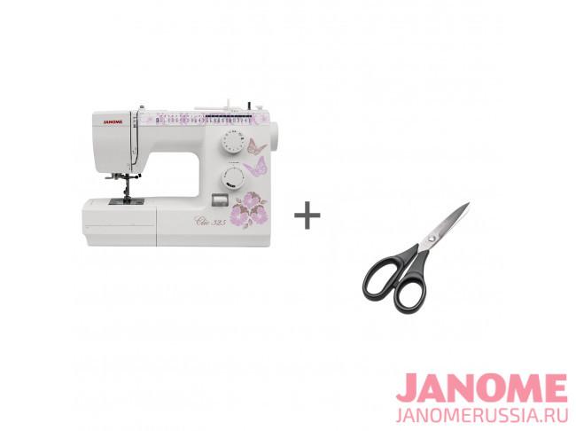 Электромеханическая швейная машина Janome Clio 325 + ножницы портновские Premax B6170 в подарок!