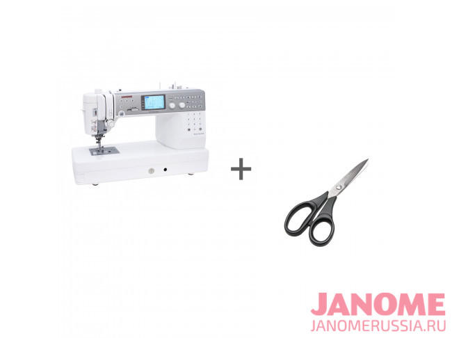 Компьютерная швейная машина Janome Memory Craft 6700P + ножницы портновские Premax B6170 в подарок!