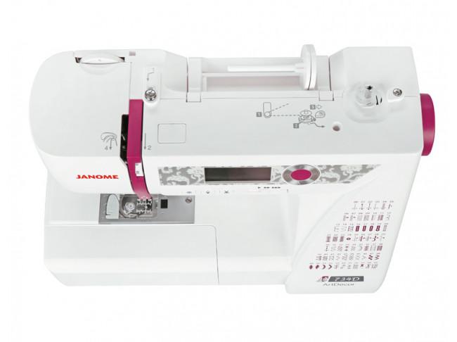 Компьютерная швейная машина Janome ArtDecor 734D + ножницы портновские Premax B6170 в подарок!