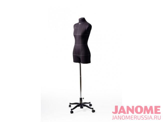 Манекен женский мягкий портновский Monica, размер 44, черный