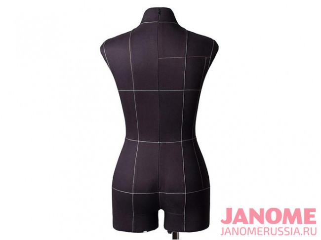Манекен женский мягкий портновский JANOME Monica, размер 42, черный
